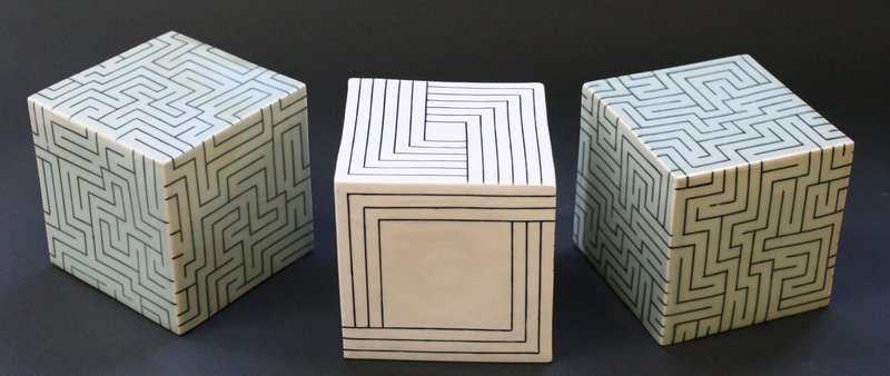 Joo Ji Wan Celadon and Porcelain Trio