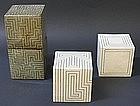 Joo Ji Wan Dark Celadon and White Stoneware Quartet