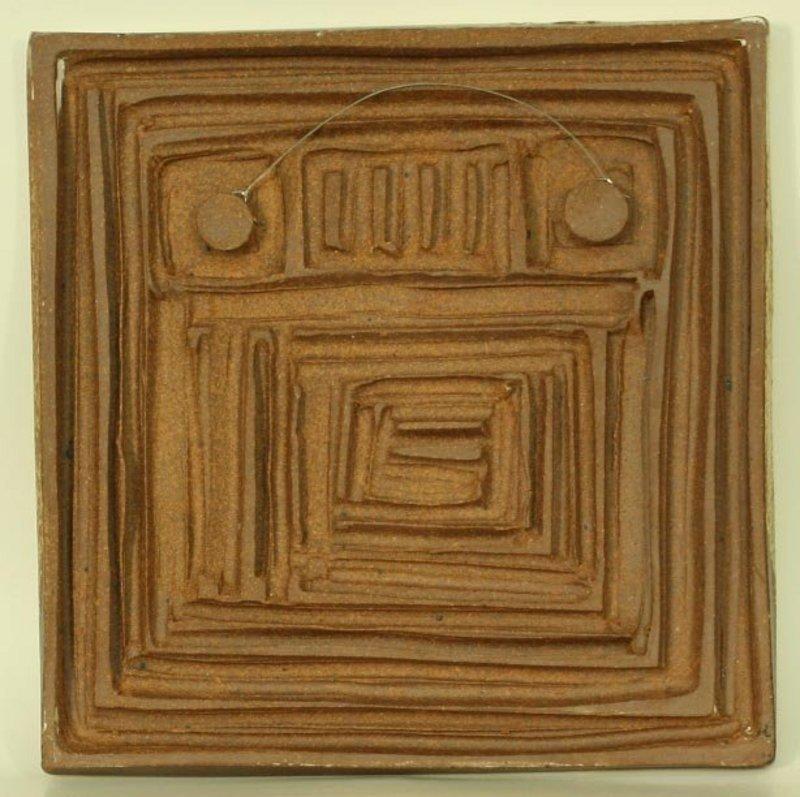 Buncheong Ceramic Wall Panel by Yoon Ja Eui