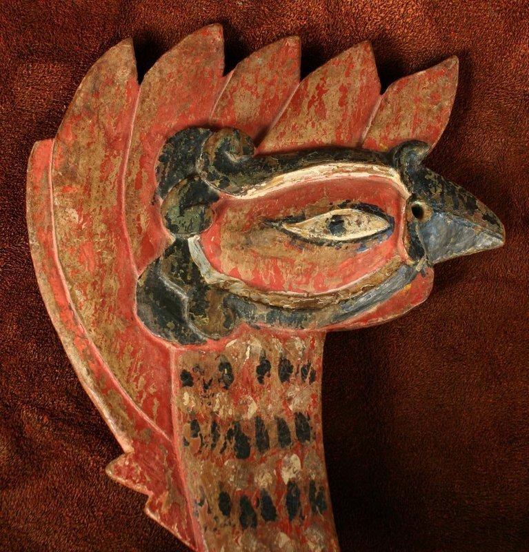 Beautifully Rendered Korean Rooster Funerary Figure