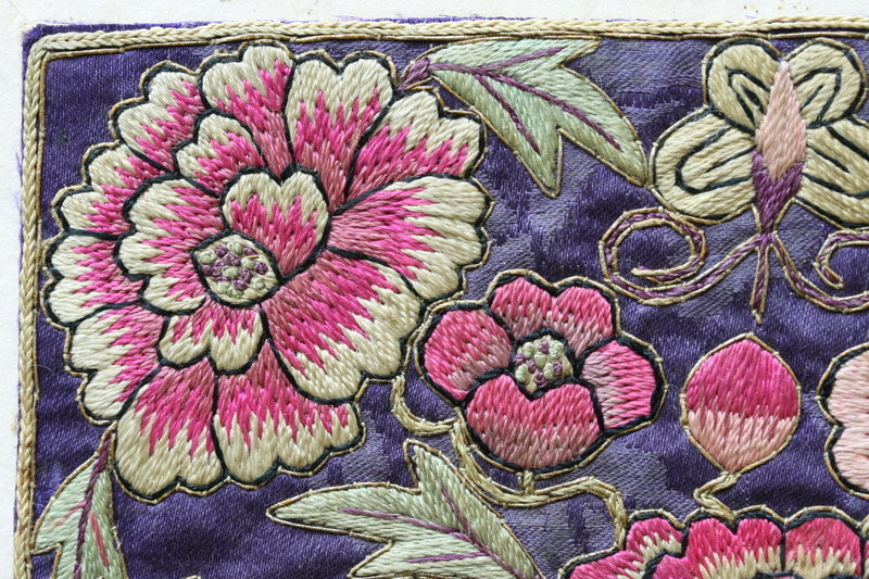 Finely Embroidered Deluxe Pair of Korean Pillow Ends