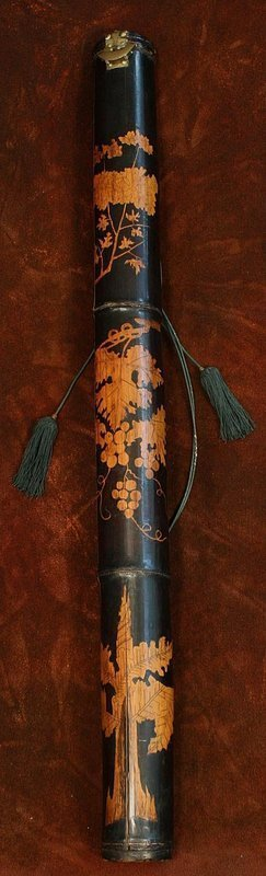 Rare Korean Black Lacquered Arrow Case, Quiver