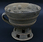 Unique and Large Kaya Kingdom Cup, 4th Century
