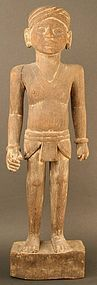 Large Burmese Wood Sculpture of an Overseer