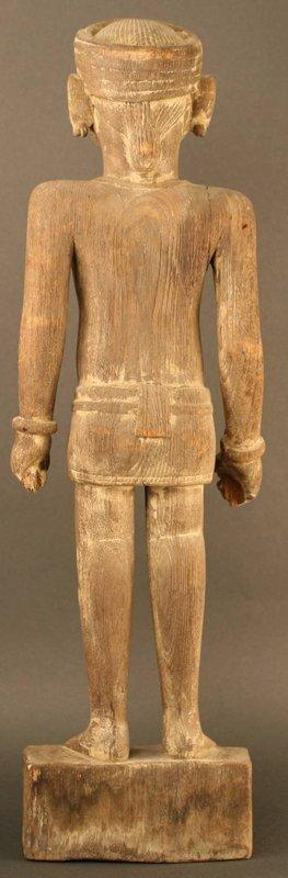 Large Burmese Wood Sculpture of an Overseer