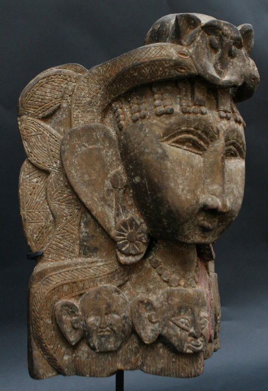 Indian Devi (Durga) Mohra Mask from Himachal Pradesh