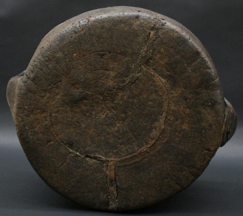 18th Century Tibetan Wood Vessel with Handles