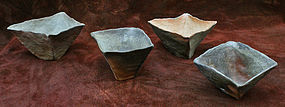 Set of Four Wood-Fired Cups by Kim Young Mi