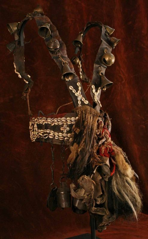 Nepalese Shaman's Suit of Bells, Feathers, and Hide
