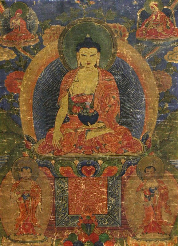 17th Century Bhaisajyaguru Thangka