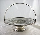 Martin Hall Hand Engraved Silver Plate Basket