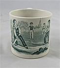 "Child's Staffordshire Transferware Cup ""Cricket"""