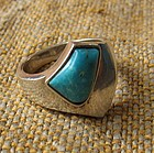 Ric Erika Hult de Corral Taxco Turquoise Silver Ring