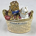 Conta Boehm Dogs Fairing Match Strike Trinket Box