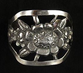 Maciel Mexico Silver Repousse Bracelet
