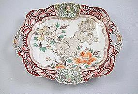 Meiji Japanese Imari Tray with Shi-shi Lion