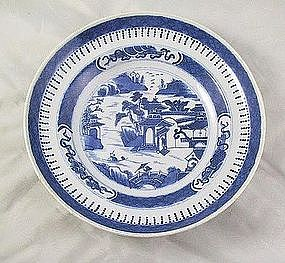 Nankin Chinese Porcelain Soup Bowl B&w