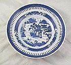 Nankin Chinese Porcelain Soup Bowl B&w