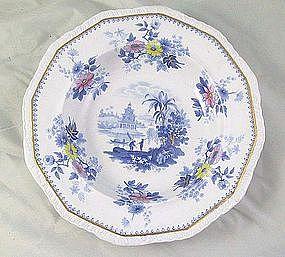 Pair Davenport Transferware Soup Plates Ca.1830