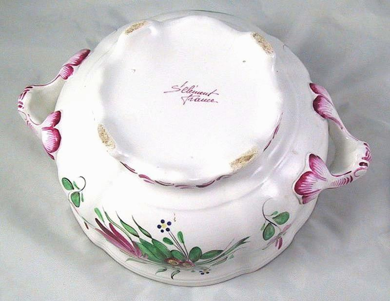 """St Clement French Faience """"Coq"""" Tureen Soupiere"""