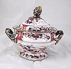 Spode(?) Porcelain Imari Sauce Tureen