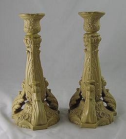 Drabware Molded Candlesticks Ca.1835 Ridgway?