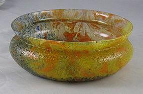 Kralik Rindskopf Art Glass Center Bowl