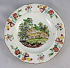 Child's Pearlware Polychrome Plate Ca. 1825