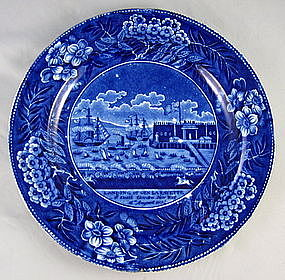 "Clews ""Landing Of Lafayette"" American Historical Plate"