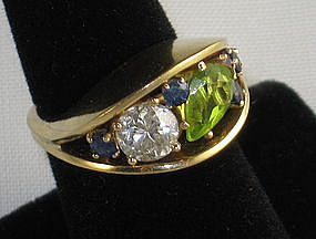 Retro 18k Designer Ring Shirley Lege Carpenter 1950