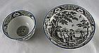 Salopian Pearlware Tea Bowl And Saucer Ca. 1800