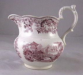 Staffordshire Transferware Pomerania Jug Ca.1830