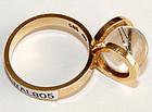 Jens Asby 14K Reticulated Quartz Sphere Modernist Ring