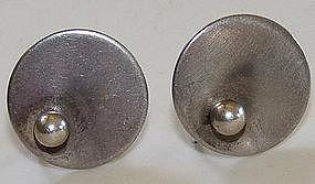 Irvin & Bonnie Burkee Minimalist Sterling Earrings