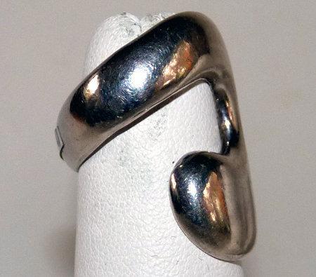 Jacob Hull Denmark Sterling Modernist Abstract Ring
