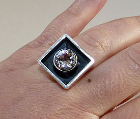 Chunky Alton Sweden Rock Crystal Ring by Palmberg