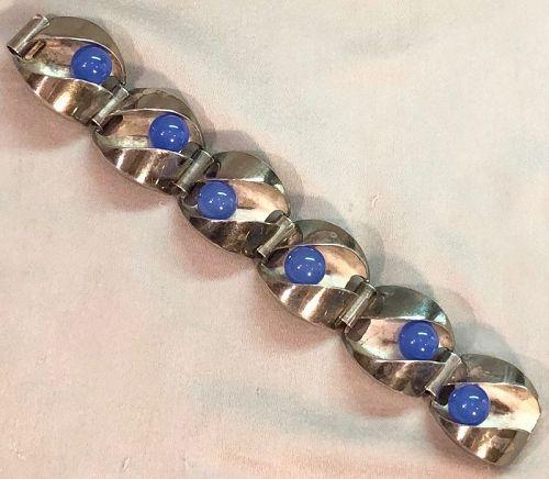 MATTI J HYVARINEN SIROKORU Finland Sterling Kinetic Gemstone Bracelet