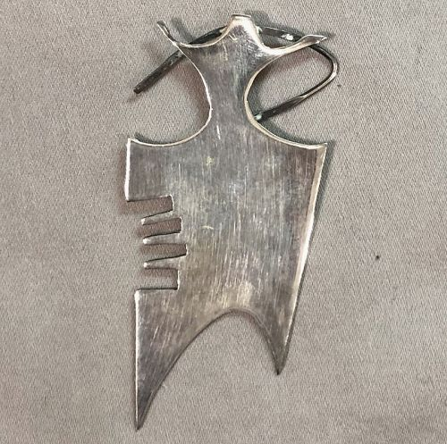 Californian Artist Mary Ownens Modernist Sterling Pendant