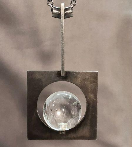 Hans Hansen Denmark Rock Crystal Necklace