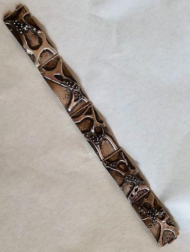 Unique Organic Sterling Silver Modernist Bracelet