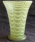 Early Murano Aventurine & Yellow Draped Vase