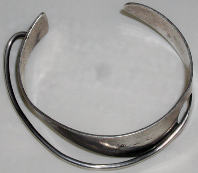 Bill Tendler 1950s Modernist Sterling Cuff Bracelet