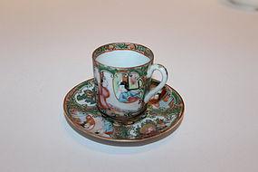 Chinese Mandarin Cup & Saucer