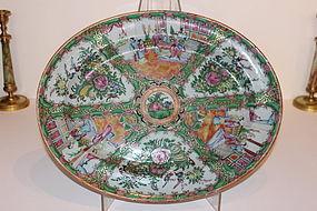 19th C. Chinese Mandarin Porcelain Platter
