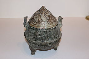 Chinese Han Dynasty Terracotta Covered Urn