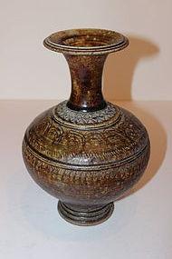 Asian Glazed Pottery Urn