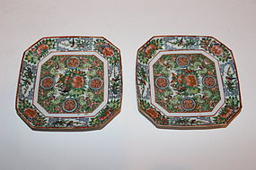 Pair of Chinese Mandarin Saucers