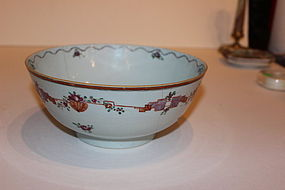 18th Century Chinese Porcelain Punch Bowl