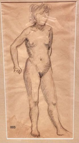 Andre Derain Life Study Standing Nude