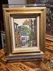 Edward J. Elhoff �Greenwich Village� oil on canvas